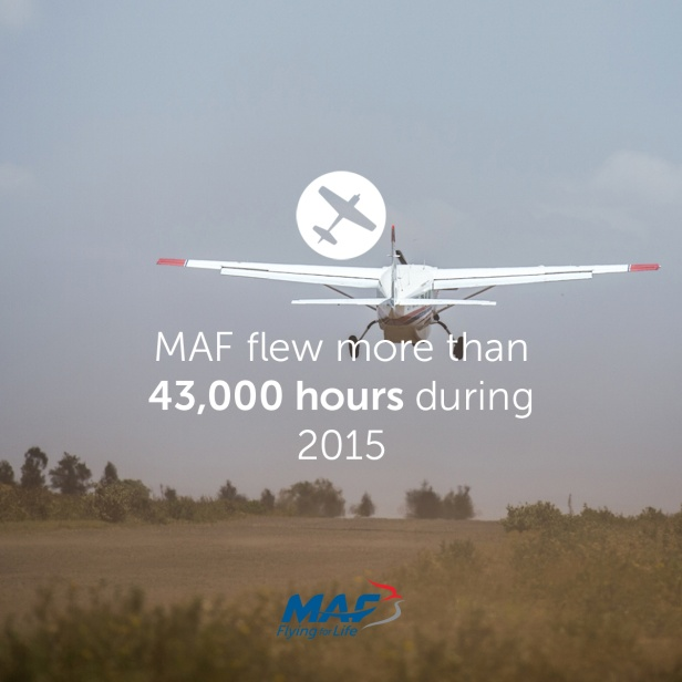 MAF flew more than 43,000 hours in 2015