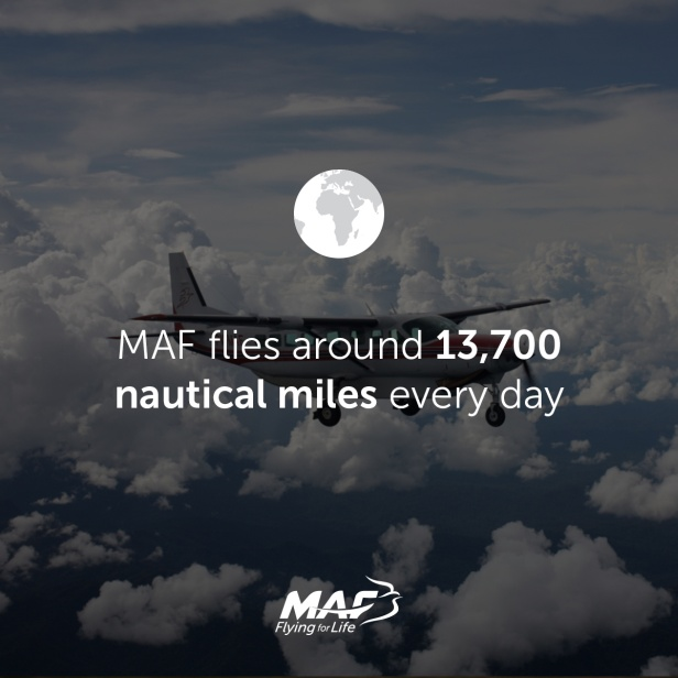 MAF flies 13,700 nautical miles per day