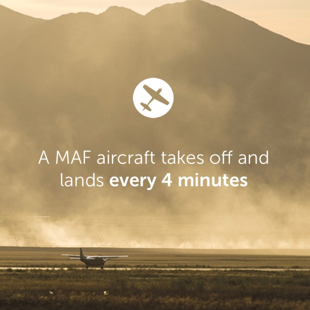 An MAF aircraft takes off and lands every 4 minutes