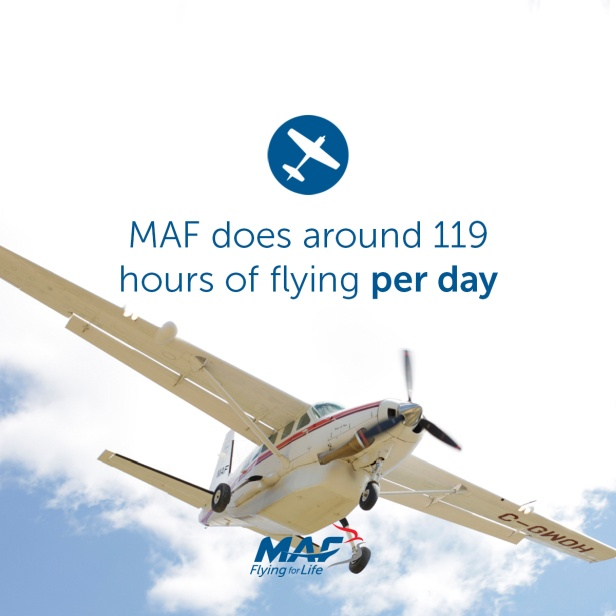 MAF does 119 hours of flying per day