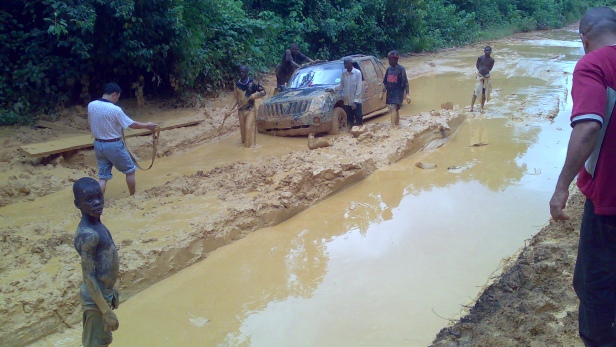 Poor road network in Liberia makes overland travel dangerous