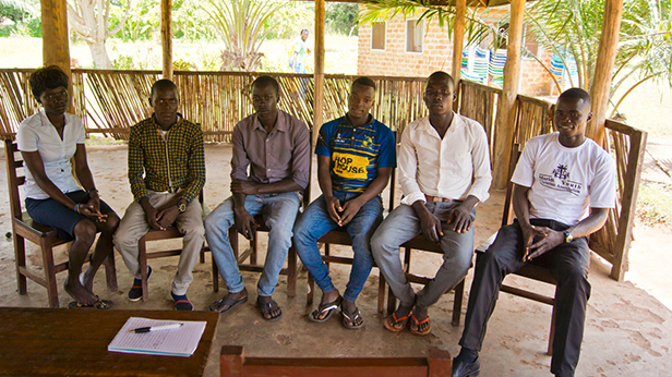 A group of young african men and woman
