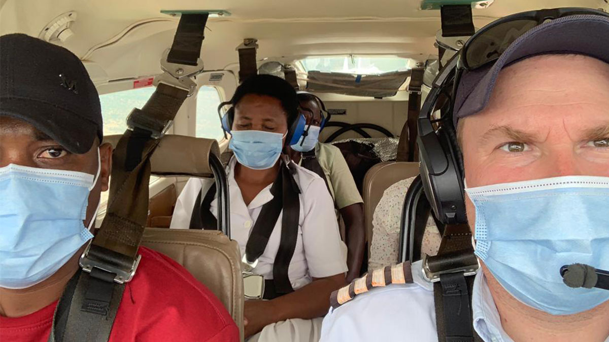 MAF Pilot, Jarkko Korhonen, flying nurses to Lesirwai Village in Tanzania