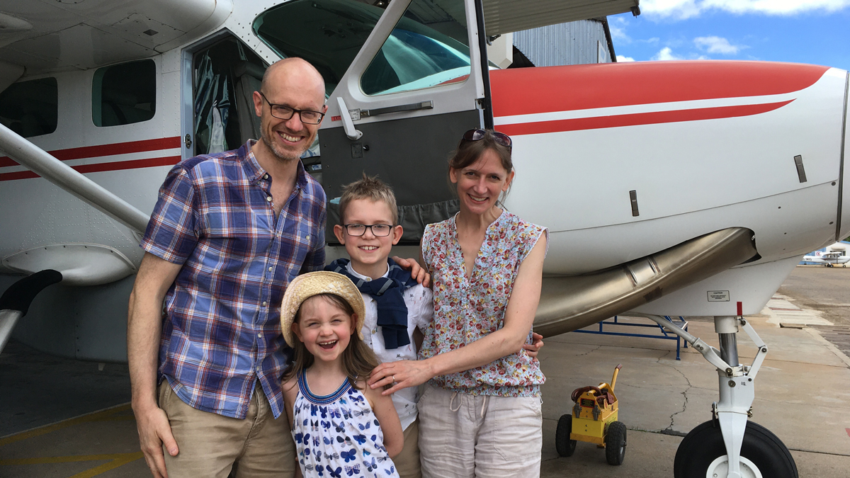 The Hinds family – Mark, Lucy, Sam (10) and Anna (7)