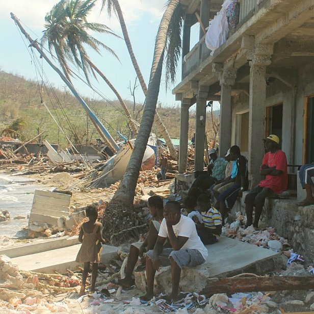 Hurricane survivors in Haiti - MAF