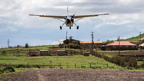 MAF aircraft in Marsait, Kenya, for enthronement of Anglican Bishop Qampicha Daniel Wario