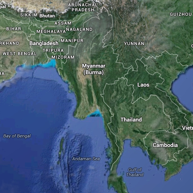 Myanmar map (copyright Google)