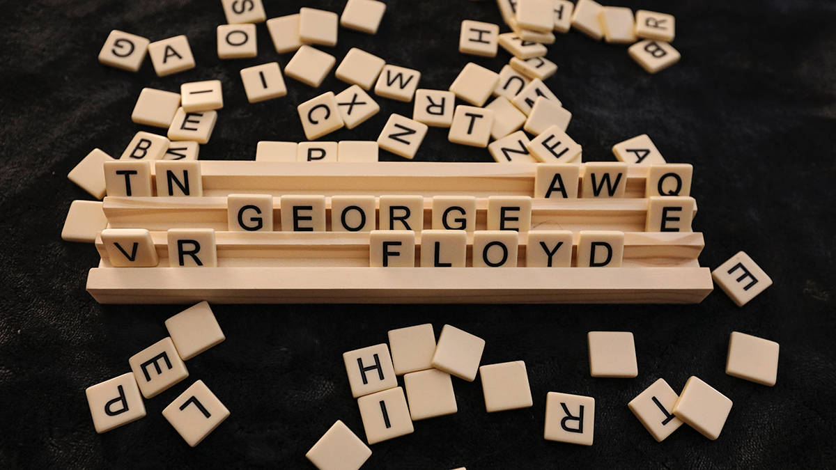 George Floyd black lives matter scrabble image