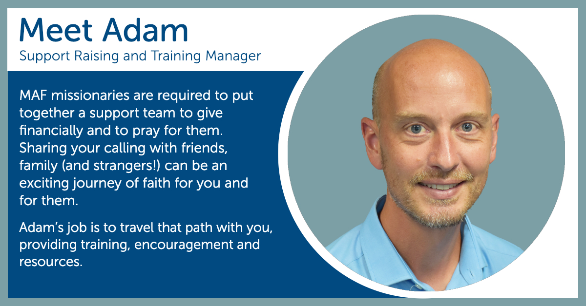 Adam Pope - Support Raising and Training Manager