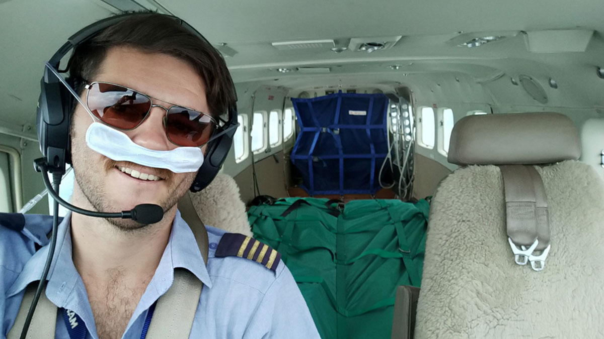 MAF Pilot, Daniel Gill, flying Samaritan's Purse cargo to Ajuong Thok Refugee Camp in South Sudan