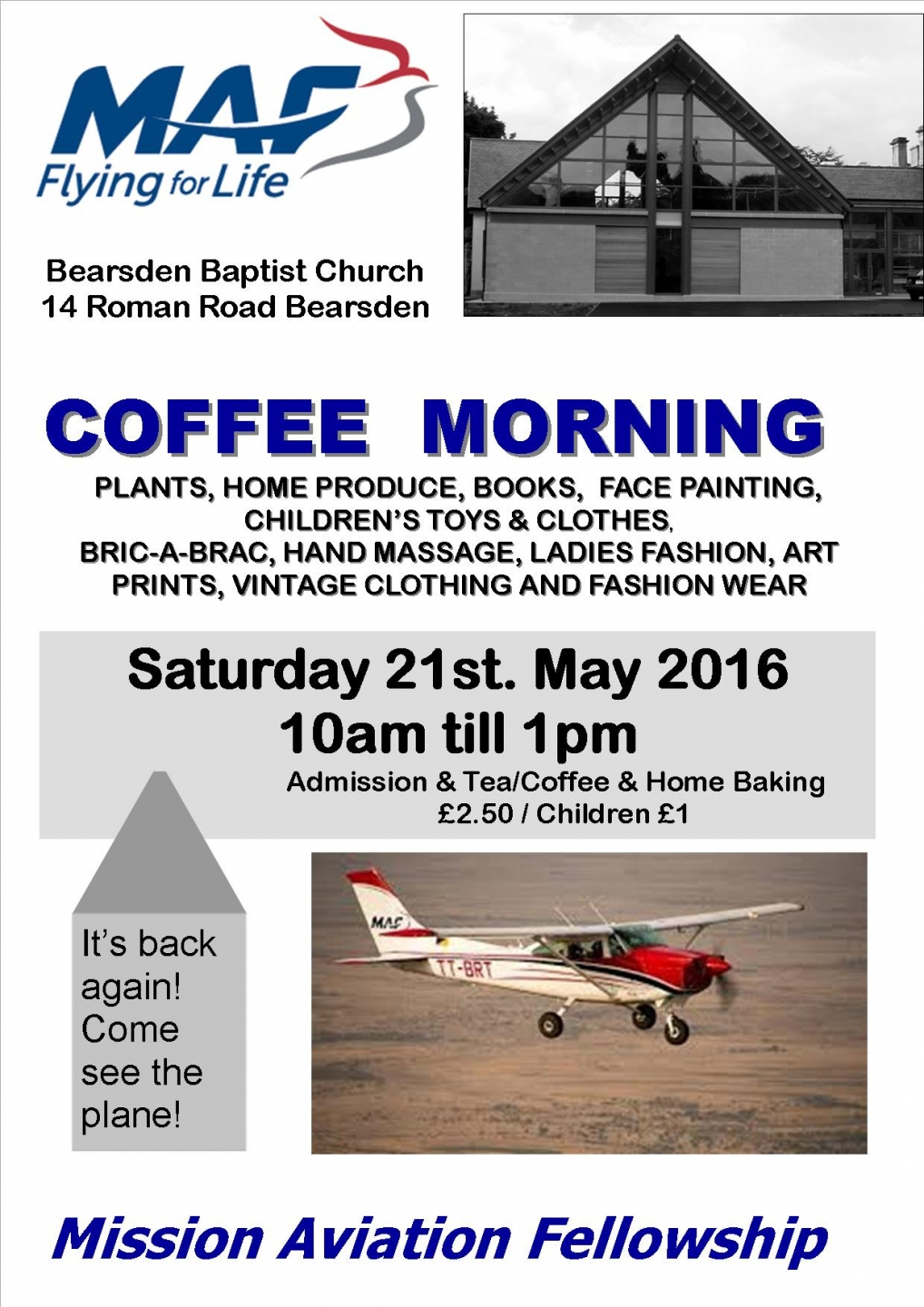 Bearsden Baptist Coffee Morning - with MAF UK