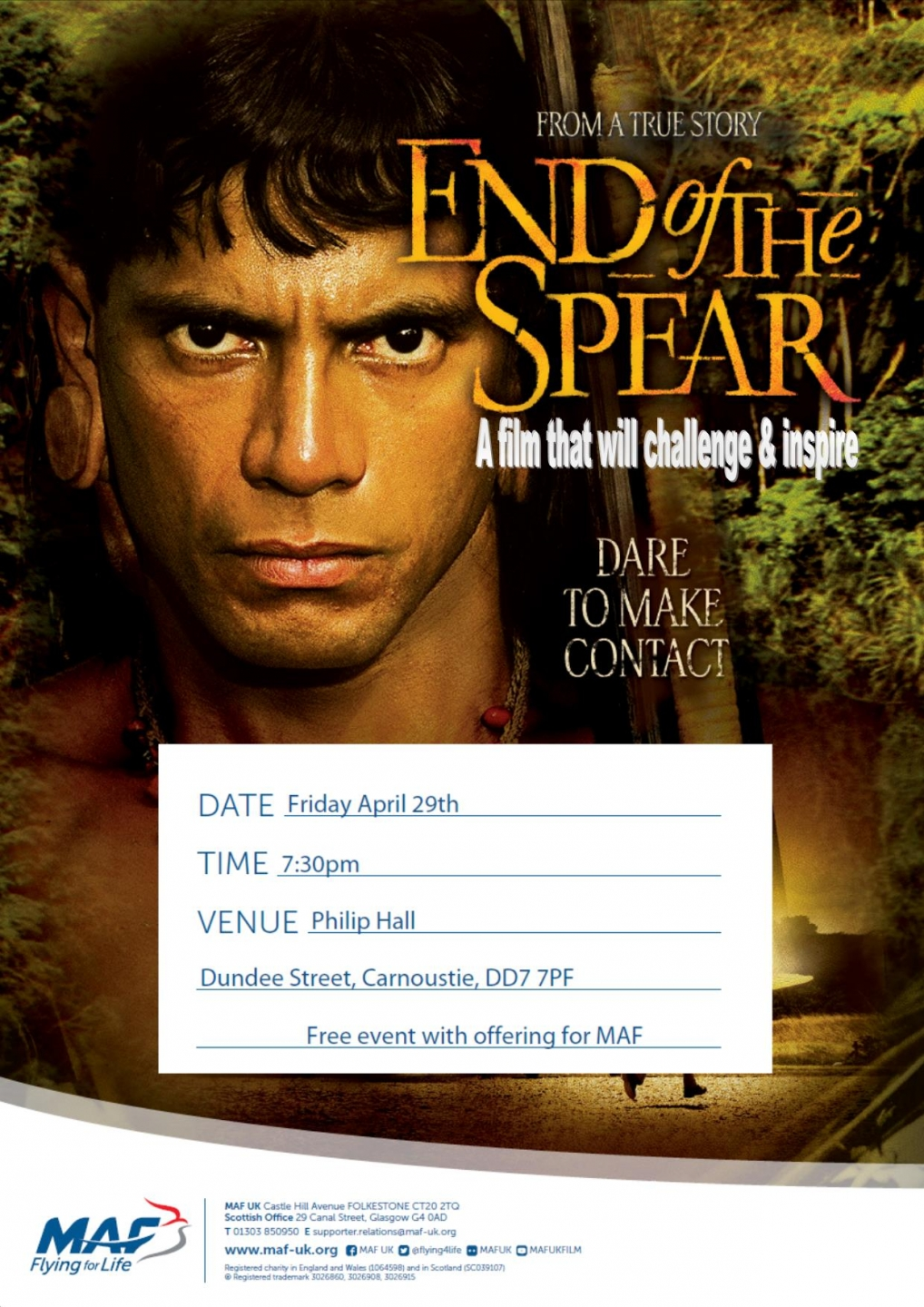 MAF movie night - End of the Spear - Carnoustie