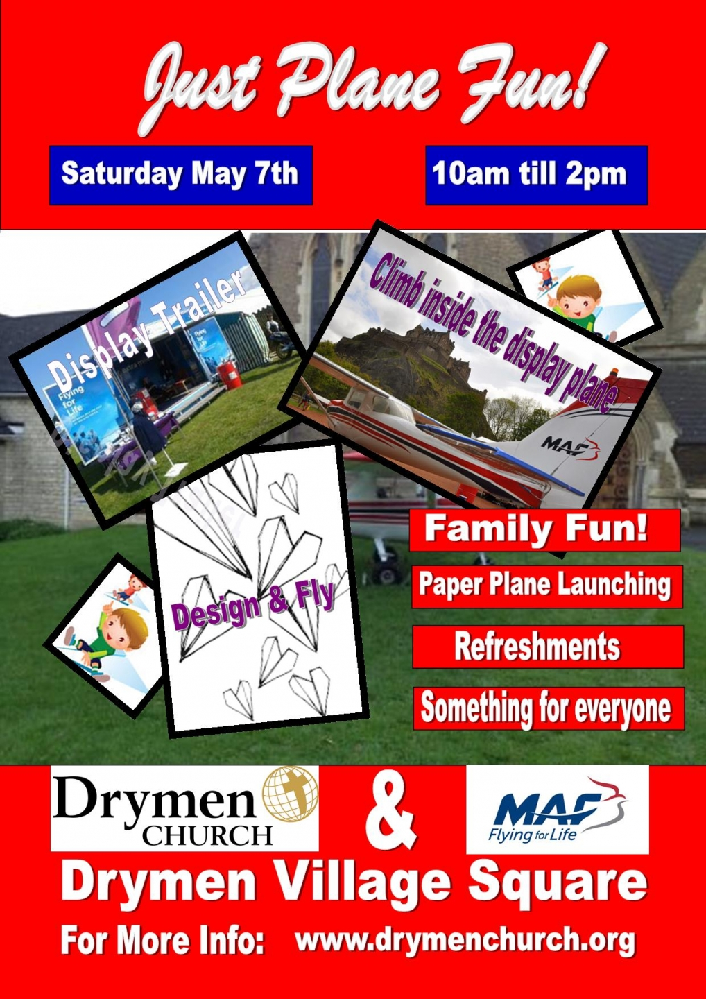 Just Plane Fun! - event at Drymen in partnership with Drymen Church and MAF