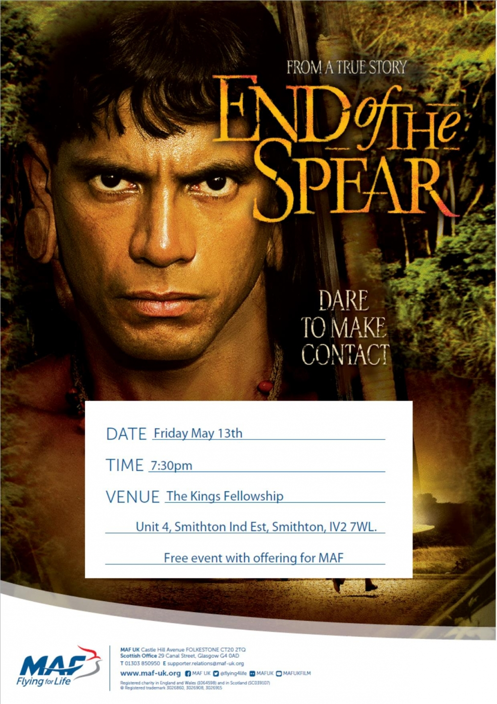MAF movie night - End of the Spear - Smithton