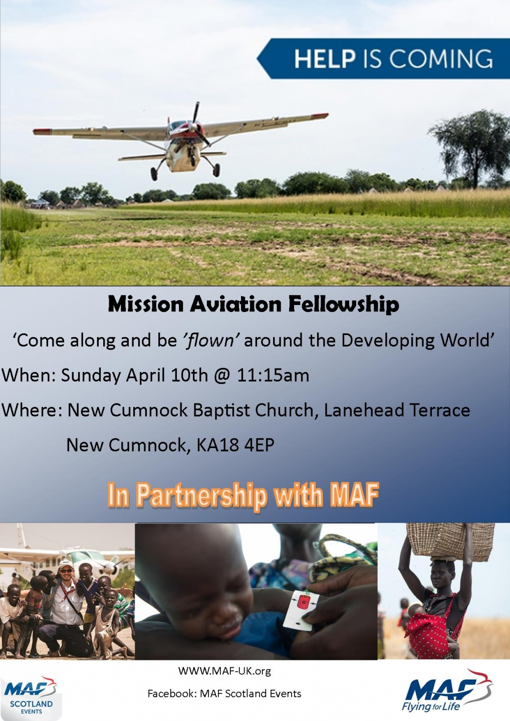 MAF event at New Cumnock Baptist Church