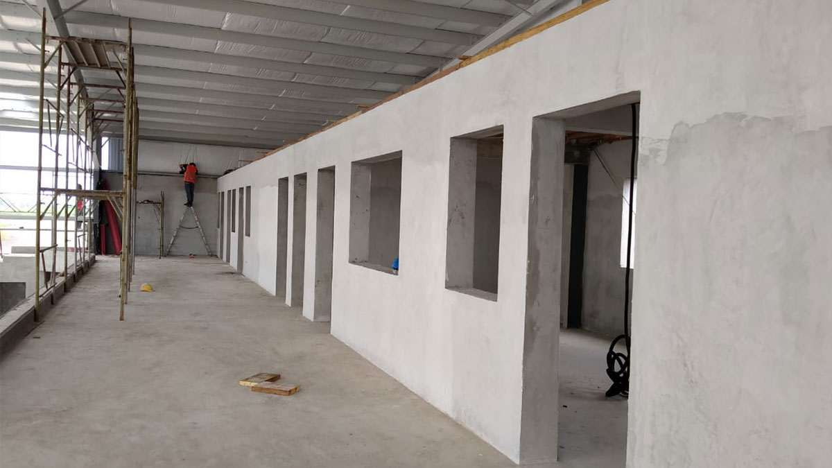 Construction of offices inside MAF's new Monrovia hangar which will accommodate more staff and provide safer storage