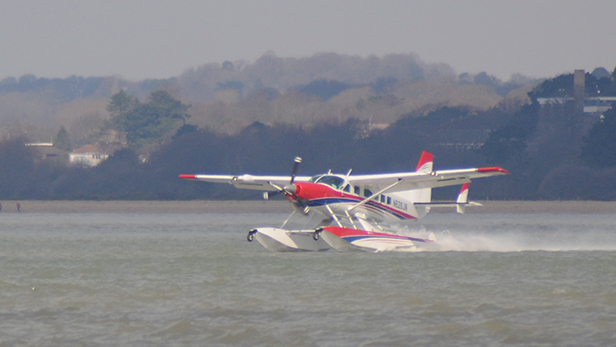 Water landing at Calshot