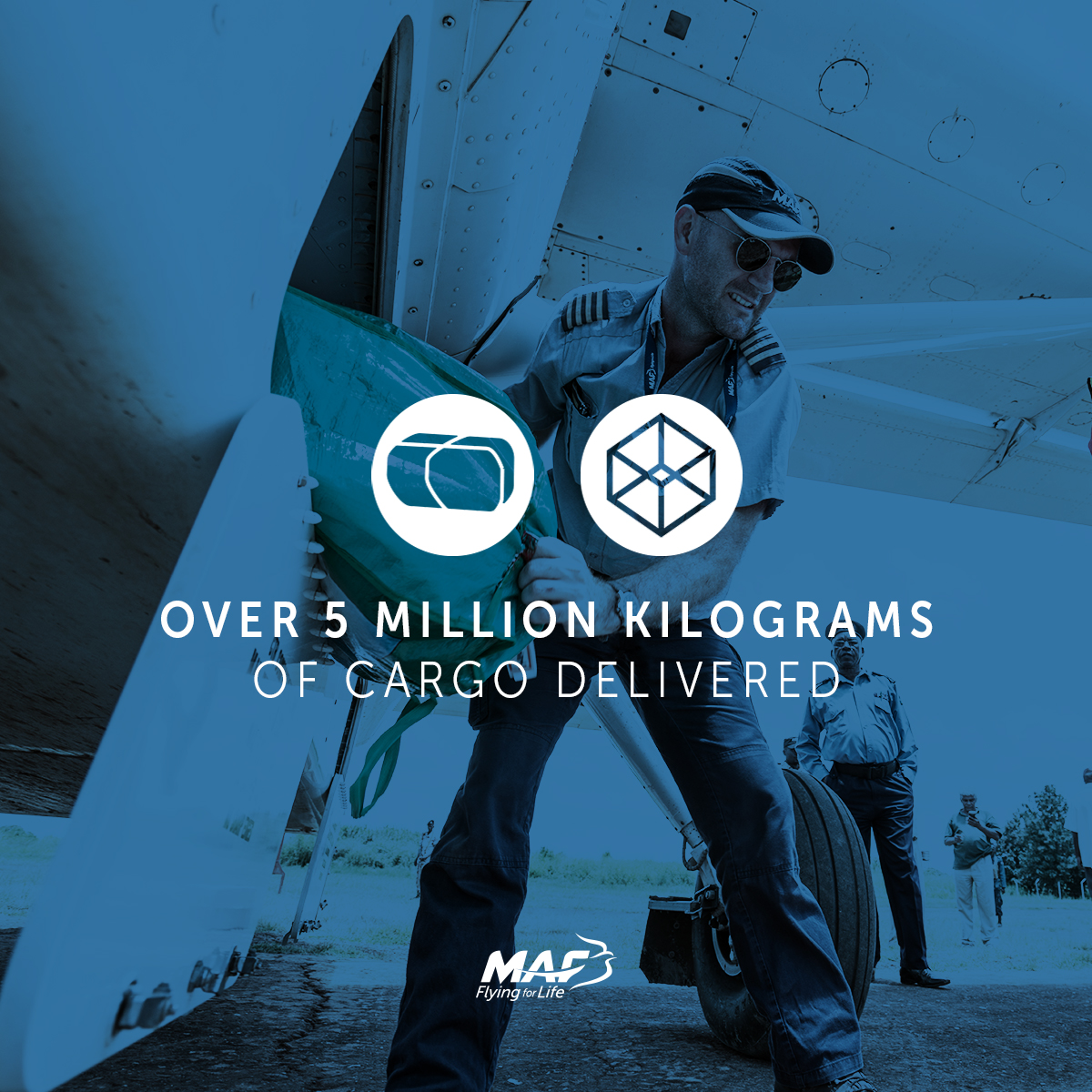Weight of cargo delivered by MAF in 2017