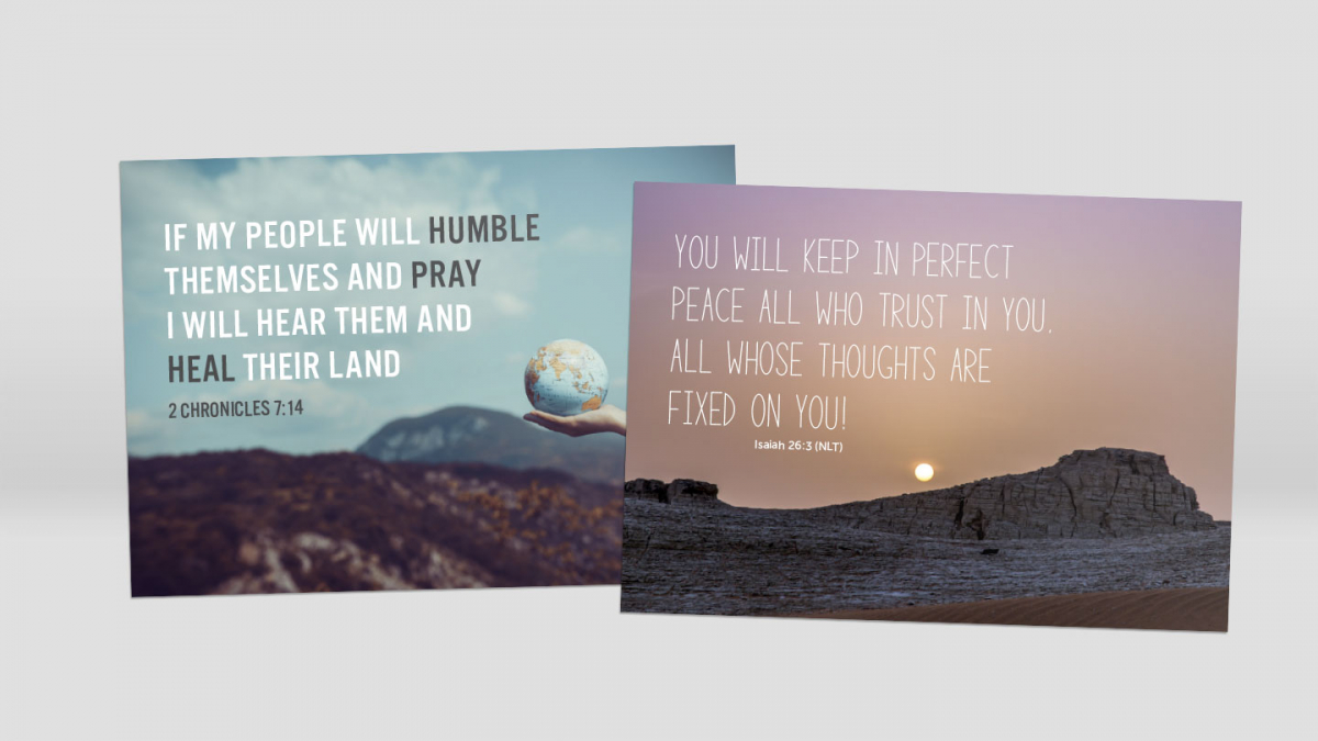 Thoughts and Prayers Postcard 10-pack