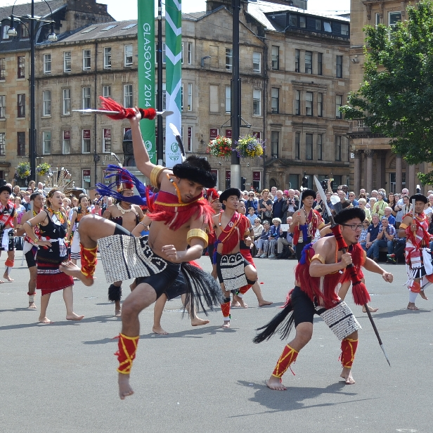 Traditional Nagaland dancing in Scotland