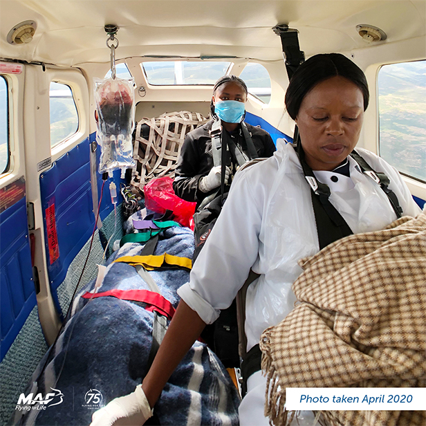 Lesotho - Medevac patients and nurses are screened and wear PPE