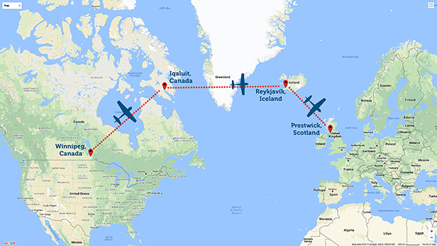 Map Of Uk Ferry Routes.The Ferry Flight Route Mission Aviation Fellowship
