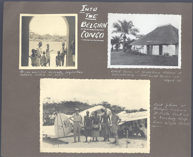 Bulape pages from the original scrapbook compiled by Stuart King to show the progress of the 1948 Gemini Africa Survey. Image credit: MAF archive