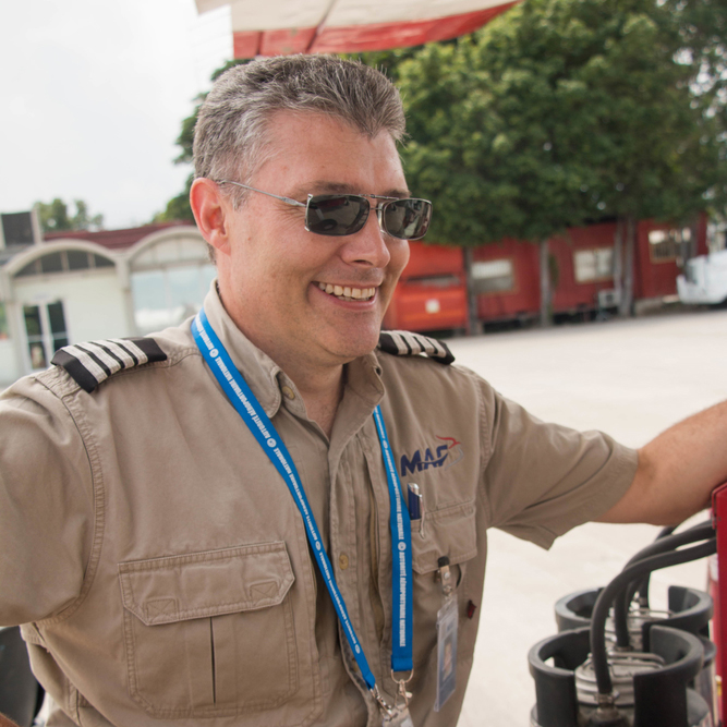 Vaughan Woodward,MAF International Disaster Response Team member