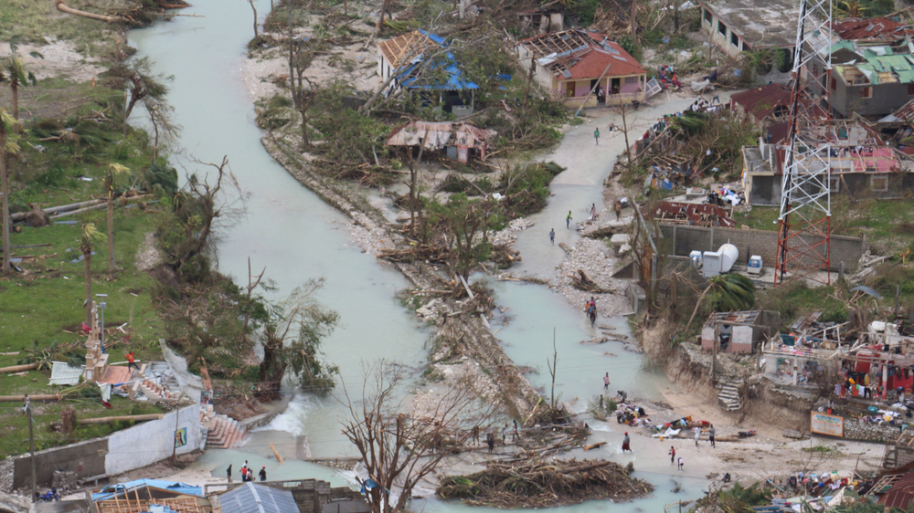 Survey flight after Hurricane Matthew in Haiti