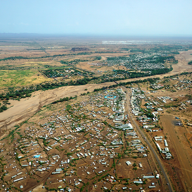 Kakuma Refugee Camp from above