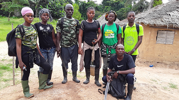 WCF Community eco-guard team working around the Grebo-Krahn National Park