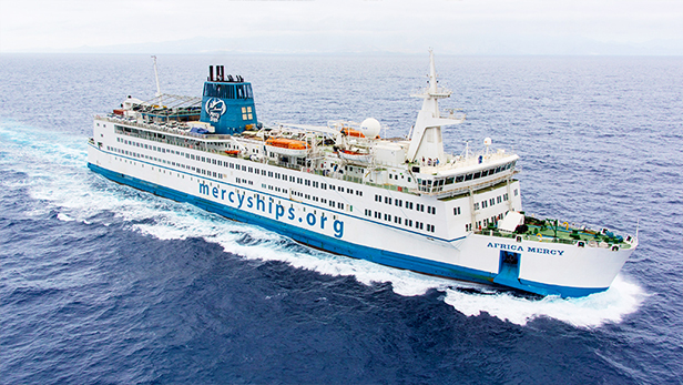 Africa Mercy ship, largest floating hospital in the world