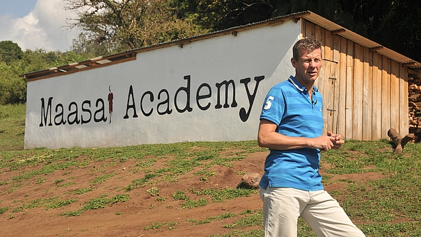 Steve Cram, founder of COCO charity, at Maasai Academy, Olerte, Kenya