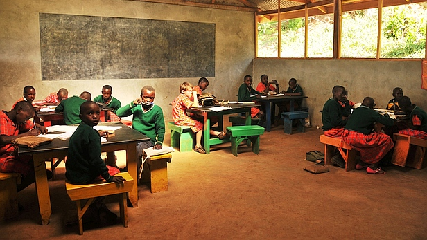 Classroom at Maasai Academy at Olorte, Kenya - MAF