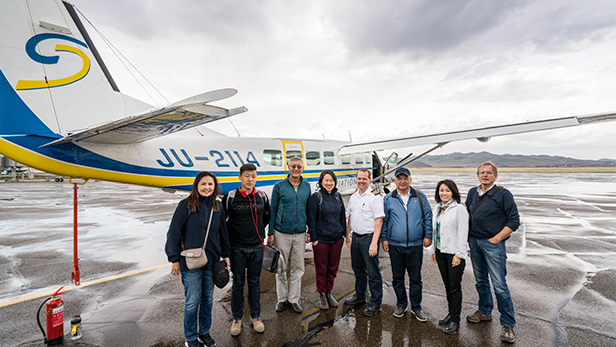 MAF Mongolia (known as Blue Sky Aviation), flew a team to Tosontsengel, a 2 ½ hour flight from the capital of Ulaanbaatar, where they met separately with two groups of people, one to speak to women about personal finance and saving, and the other to speak to herders about best-practice techniques for caring and managing sheep