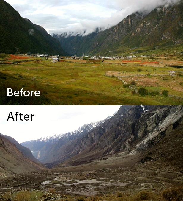Langtang Valley before and after the Nepal earthquake | MAF