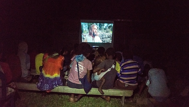 Watching the Jesus film in PNG - MAF