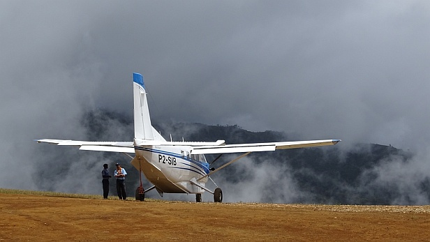 Gebrau airstrip in the mountains of Papua New Guinea - MAF UK