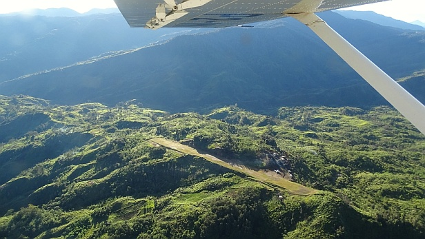 Gebrau airstrip from the air, Papua New Guinea - MAF UK