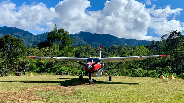 Plane in Kompiam, Papua New Guinea