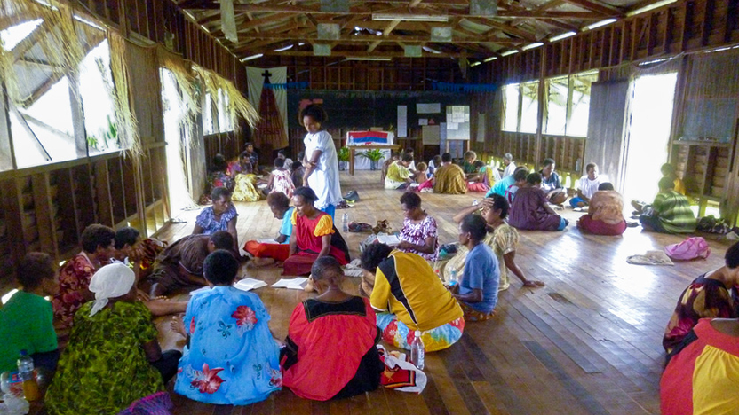 We will not fear - women attend a workshop in PNG