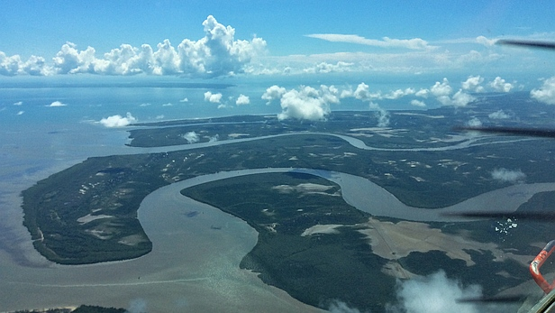 Aerial view of the Rufiji Delta, Tanzania -MAF