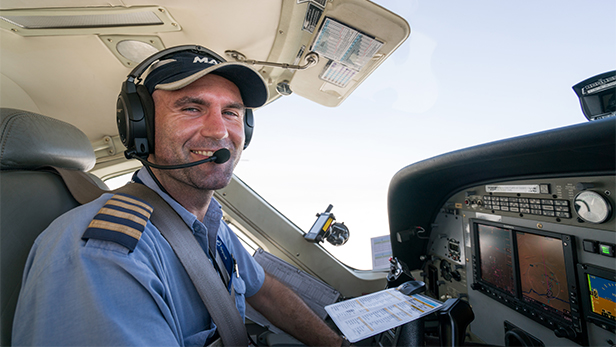 Sam Johnston in the cockpit. Photo credit LuAnne Cadd