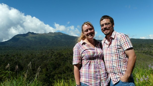 Siobhain Dales, Ground Operations Manager, and Ryan Cole, PNG Pilot.