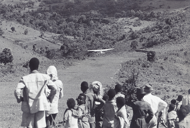 MAF plane taking off from the SIM outstation airstrip at Chebera in 1963