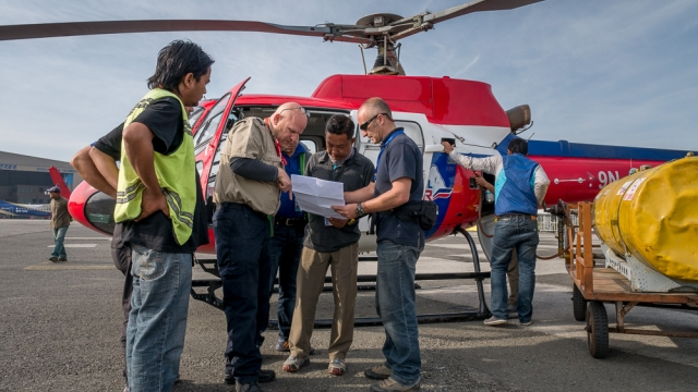 Assisting earthquake survivors in Nepal