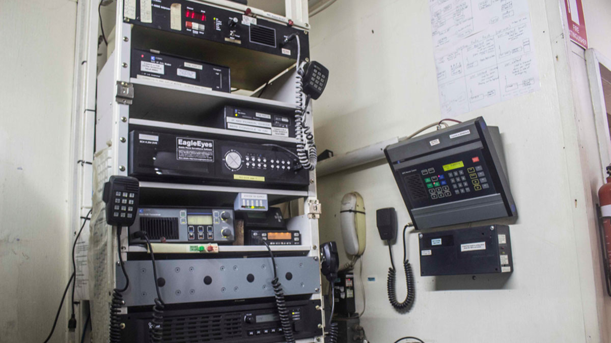 Today's radio system at CRMF's base in Goroka, PNG